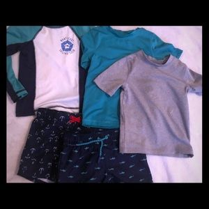 EUC Toddler/ Baby Boy- bathing suit bundle